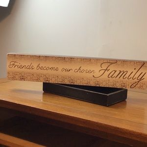 Wood friends and family wall hanging farmhouse